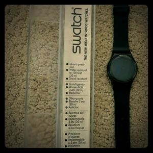 NWOT GB105 1985 swatch Blackout *RARE ASF